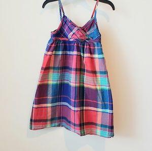 Chaps plaid dress size 4/4t